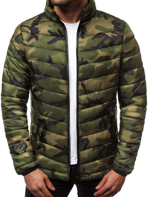 Men's Jacket - Green-Camo OZONEE JS/SM80