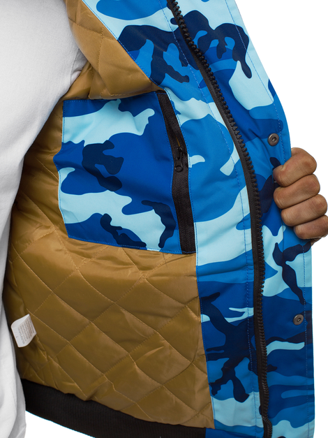 Men's Jacket - camo-blue OZONEE JS/2019005