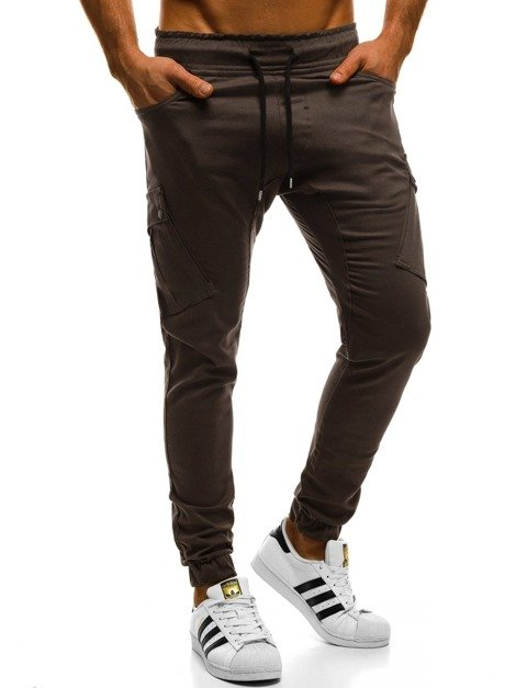 Men's Joggers - Brown OZONEE A/0853