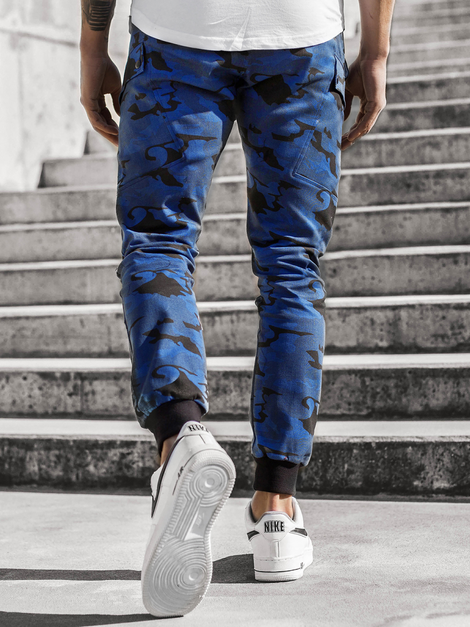 Men's Joggers - Camo-Dark blue OZONEE O/11103