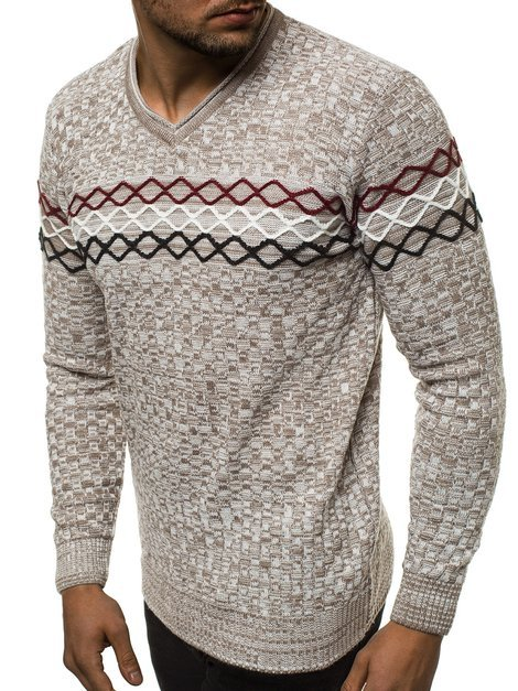 Men's Jumper - Beige OZONEE O/2031/19