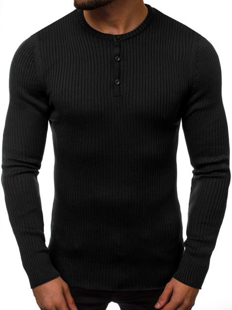 Men's Jumper - Black OZONEE B/95006