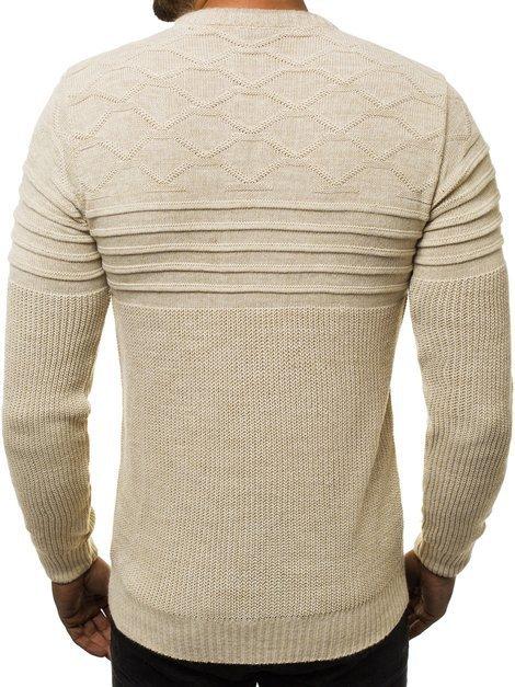 Men's Jumper - Ecru OZONEE O/2021/19