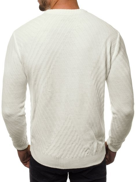 Men's Jumper - Ecru OZONEE O/2024/19
