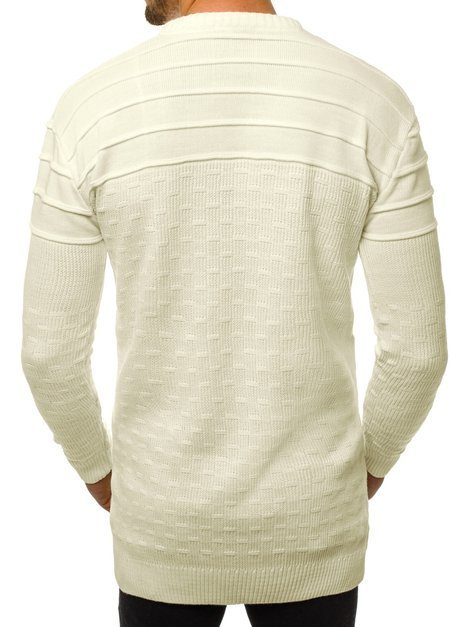 Men's Jumper - Ecru OZONEE O/2025/19