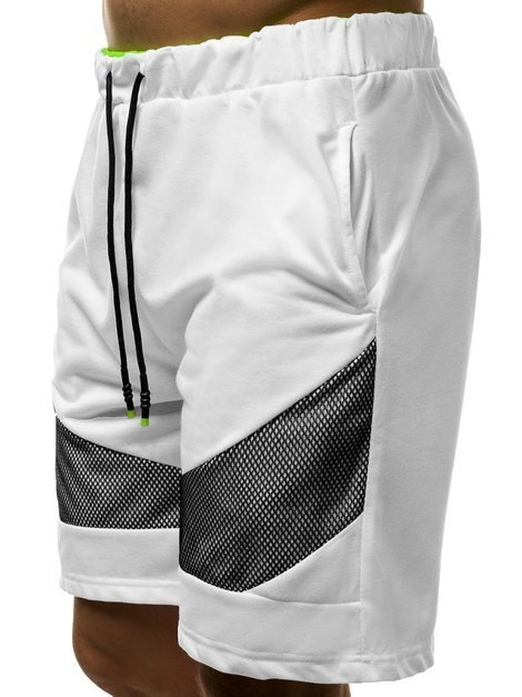 Men's Shorts - White JS/KS2503
