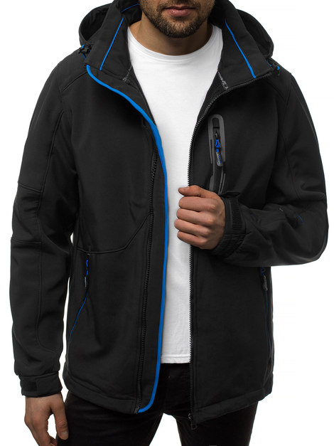 Men's Softshell Jacket - Black-Blue OZONEE GE/12263Z