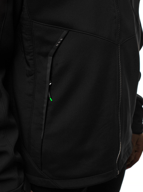 Men's Softshell Jacket - Black-Green OZONEE GE/12266Z