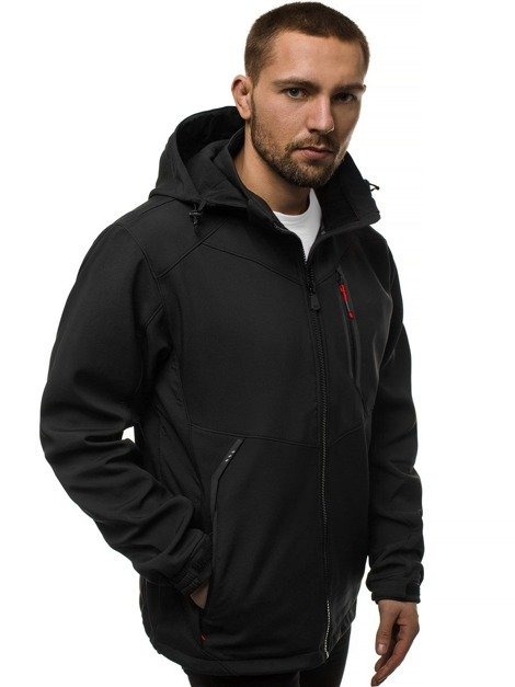 Men's Softshell Jacket - Black-Red OZONEE GE/12266Z
