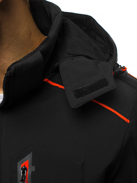 Men's Softshell Jacket - black-orange OZONEE GE/12259Z