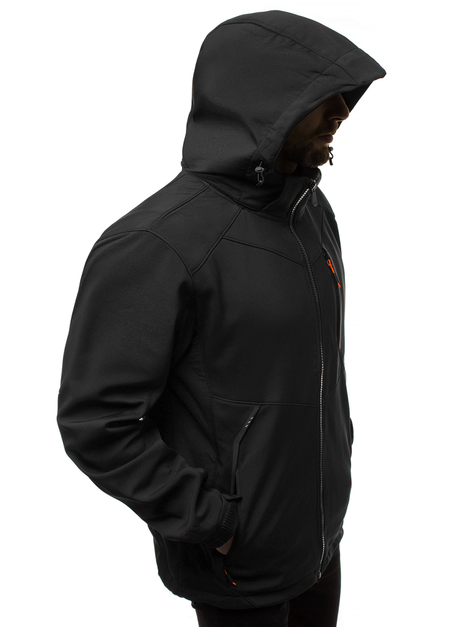 Men's Softshell Jacket - black-orange OZONEE GE/12266