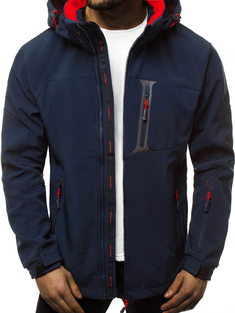 Men's Softshell Jacket - blue-red OZONEE GE/12262