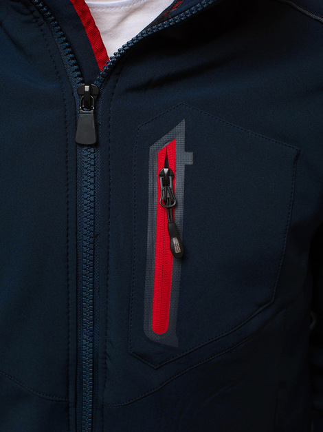 Men's Softshell Jacket - navy blue-red OZONEE GE/12259Z