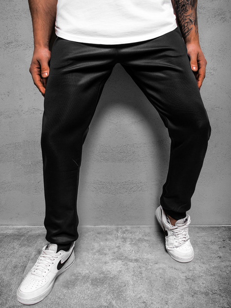 Men's Sweatpants - Black-Blue OZONEE JS/AM125Z