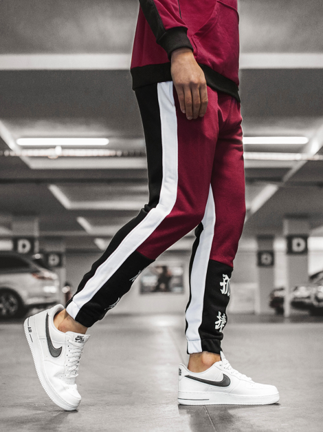 Men's Sweatpants - Burgundy OZONEE G/11122