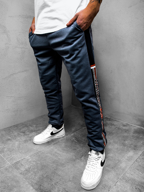 Men's Sweatpants - Navy blue OZONEE JS/AM109Z