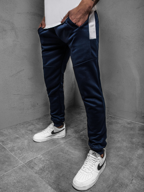 Men's Sweatpants - Navy blue OZONEE JS/JZ11021Z