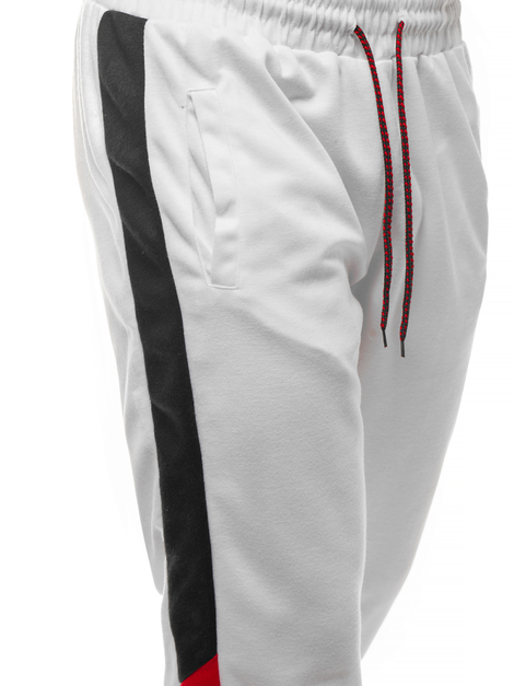 Men's Sweatpants - White OZONEE JS/JZ11012Z