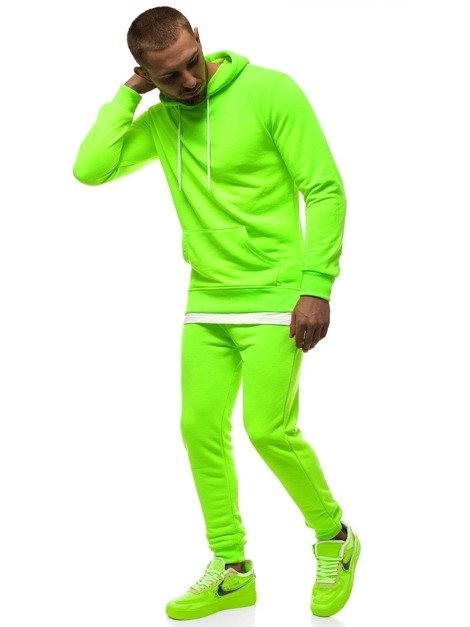 Men's Sweatpants - neon green OZONEE MACH/4100Z
