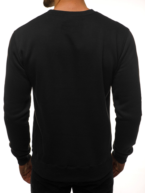 Men's Sweatshirt - Black-Green OZONEE JS/2010