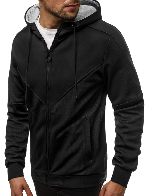 Men's Sweatshirt - Black OZONEE JS/88025