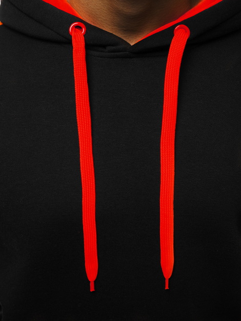 Men's Sweatshirt - Black-Red OZONEE JS/2012