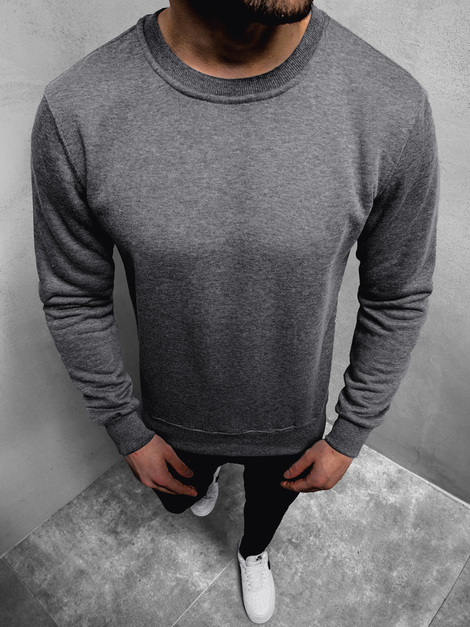 Men's Sweatshirt - Dark grey OZONEE JS/2001-10Z
