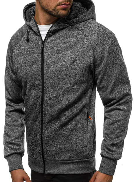 Men's Sweatshirt - Dark grey OZONEE JS/88009