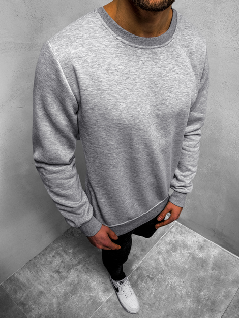 Men's Sweatshirt - Grey OZONEE JS/2018Z