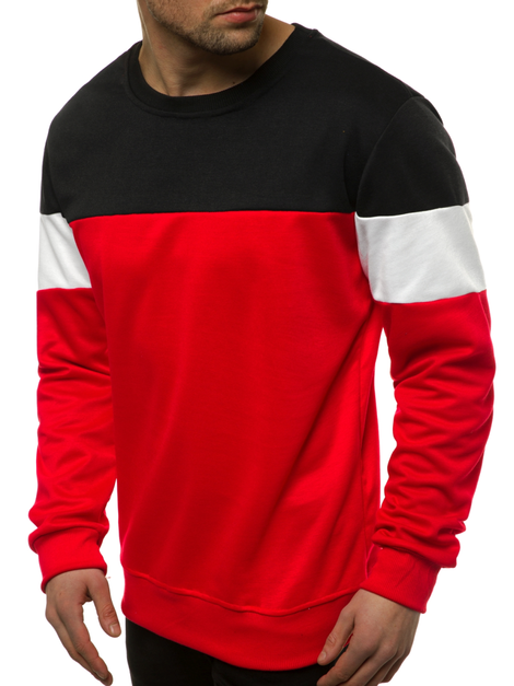 Men's Sweatshirt - Red OZONEE JS/JZ11053
