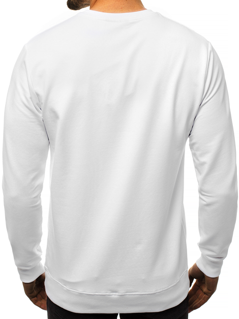 Men's Sweatshirt - White OZONEE MACH/2105