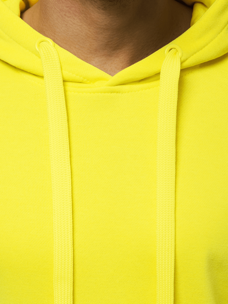 Men's Sweatshirt - Yellow neon OZONEE JS/2009