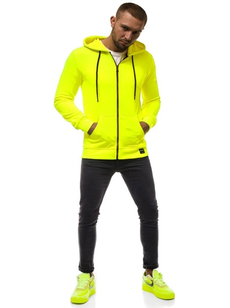 Men's Sweatshirt - Yellow neon OZONEE MACH/3101Z