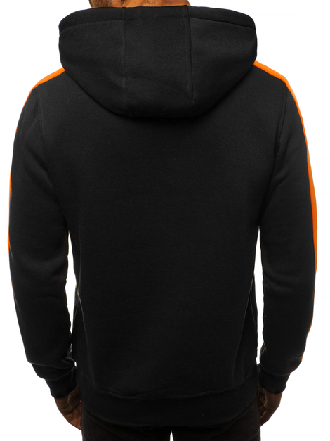 Men's Sweatshirt - black and orange OZONEE JS/2012