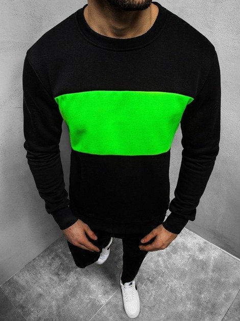 Men's Sweatshirt - black-dark green OZONEE JS/2010Z