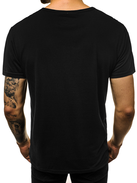 Men's T-Shirt - Black OZONEE JS/KS1998