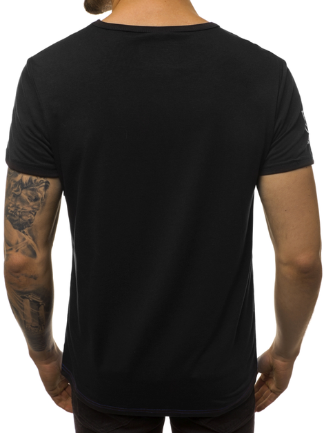 Men's T-Shirt - Black OZONEE JS/SS10979