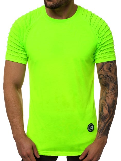 Men's T-Shirt - Green-neon OZONEE O/1256X