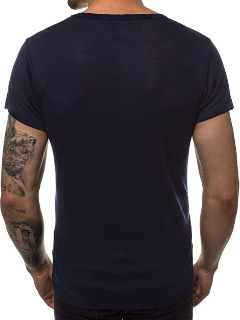 Men's T-Shirt - Navy blue OZONEE JS/NB003