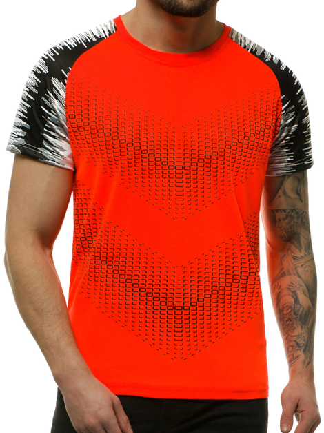 Men's T-Shirt - Orange OZONEE JS/KS2061
