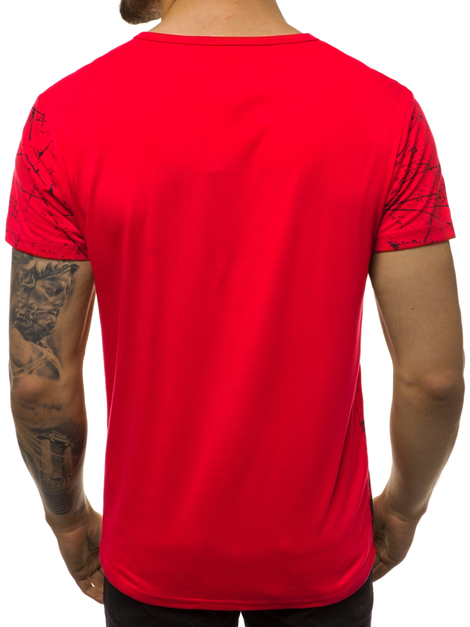 Men's T-Shirt - Red OZONEE JS/SS10915