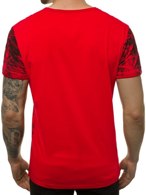 Men's T-Shirt - Red OZONEE JS/SS10920