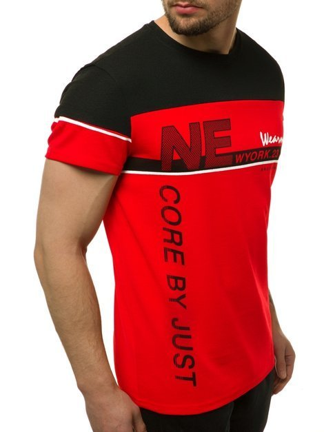 Men's T-Shirt - Red OZONEE JS/SS11002