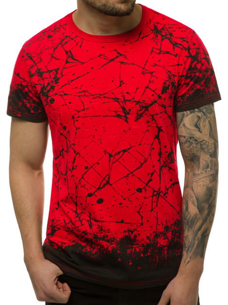Men's T-Shirt - Red OZONEE JS/SS11019