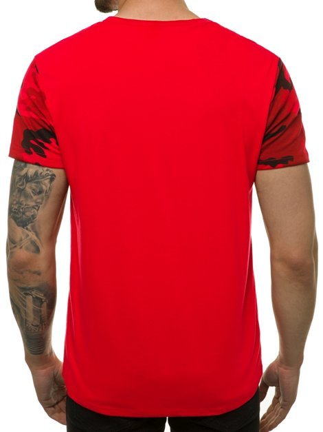 Men's T-Shirt - Red OZONEE JS/SS11105