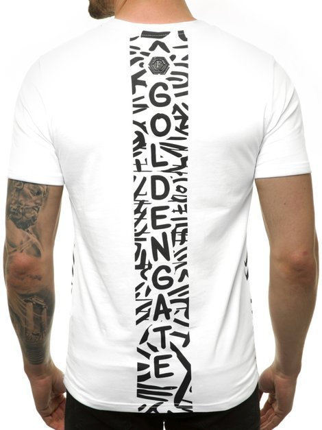 Men's T-Shirt - White OZONEE JS/KS7332