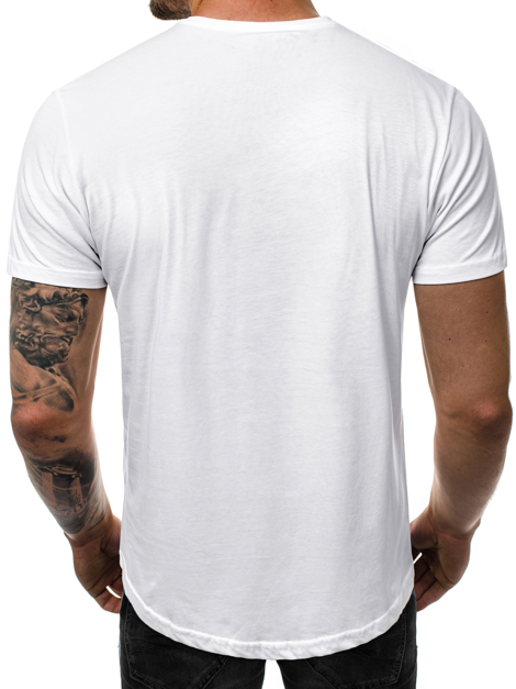 Men's T-Shirt - White OZONEE JS/SS100730Z