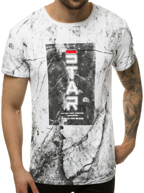 Men's T-Shirt - White OZONEE JS/SS10927