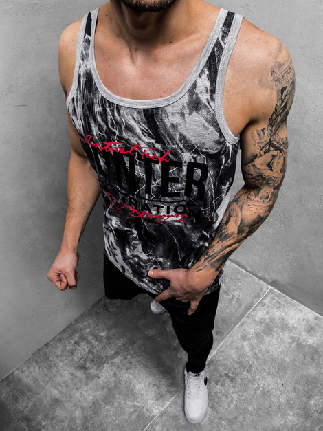 Men's Tank Top - Grey OZONEE JS/SS11033Z