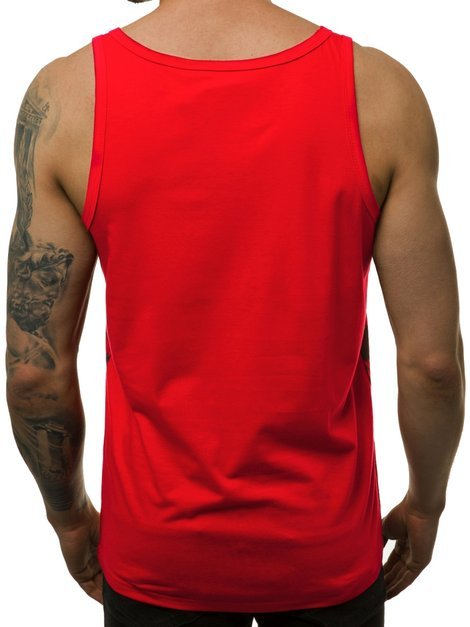 Men's Tank Top - Red OZONEE JS/SS11037